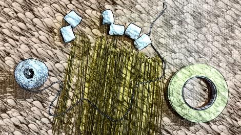 Materialien für die Marshmallow Challenge